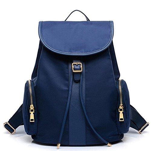 ZY shoulder bag package handbag Casual shoulder function Nylon Cosmetic Multi Student bag blue amp;F backpack Ladies bag 0rq0U