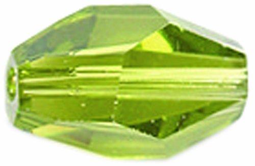 SWAROVSKI ELEMENTS 3-Pack Polygon Diamonds Beads, Transparent Finish, 8 by 12mm, Olivine - Swarovski Polygon Crystal