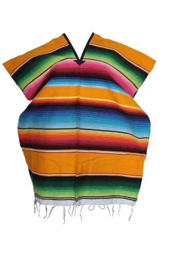 Serape Costumes (Youth Child Mexican Serape Poncho Pancho Costume (Yellow))