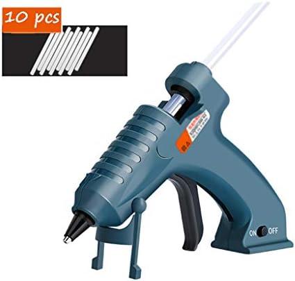 CHenXin- 10本のスティックのり、銃の口プロテクター、家庭用DIYや手工芸品とのワイヤレスホットメルト接着ガン、8WのUSB充電式ホットグルーガン、 ホットグルーガン (Color : A)