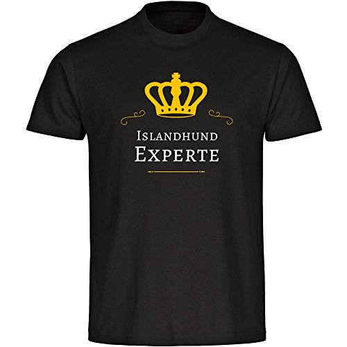 T-Shirt Islandhund Experte schwarz Herren Gr. S bis 5XL