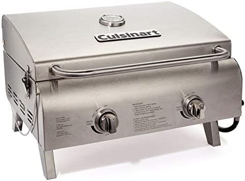 Cuisinart CGG-306 Chefs Style Stainless Tabletop Grill Renewed
