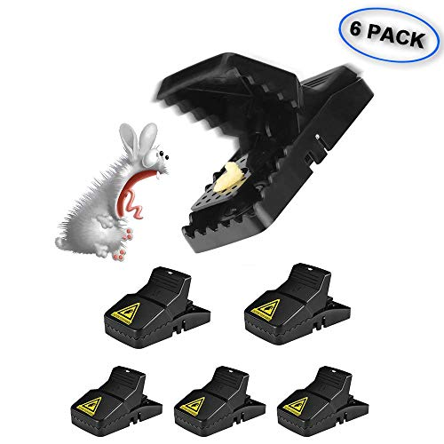 (WIYFA Mouse Trap, Small Mice Traps That Work, Mice Snap Kill Trap and Power Rodent Killer with Bait Cup, Reusable and Effective Indoor Mouse Catcher)