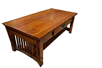 Crafters And Weavers Mission Solid Quarter Sawn Oak Coffee Table