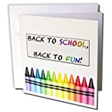 3dRose Back to school, back to fun - Greeting Cards, 6 x 6 inches, set of 12 (gc_158456_2)