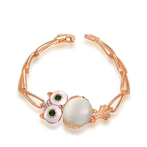 Time Pawnshop Creative Cute Owl Zircon Elegant Stylish Women Bracelet (Make Maleficent Horns)