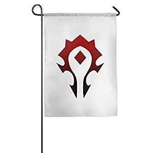 LOKIKA World Of Warcraft Horde Symbol House Flag Garden Flag 12*18 Inch 18*27 Inch