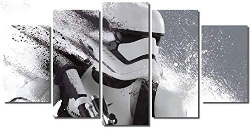 NATVVA Large Size Star Wars Stormtrooper Movie Painting Print on Canvas Art for Living Room Decor Wall Art Painting for Kids Home Decor Framed ready to hang