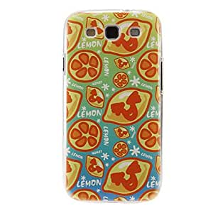 LZX Happy Lemon Pattern Plastic Protective Hard Back Case Cover for Samsung Galaxy S3 I9300