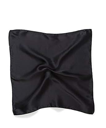 VAN HEUSEN Men's Pocket Square Black, Black,One Size