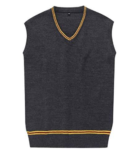 Hide Away Unisex Sweater Cardigan Vest Waistcoat School Witchcraft Wizardry Sweater Vest (Large, Red)