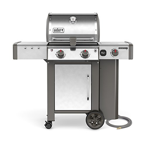 (Weber 65004001 Genesis II LX S-240 Natural Gas Grill, Stainless Steel, Two-Burner,)