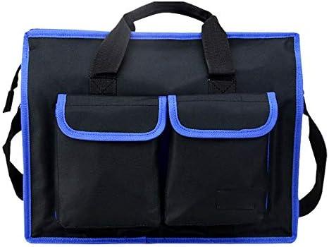 耐久性工具バッグ ハンドバッグポータブルジッパー修理キットオーガナイザーパワーツールバッグオーガナイザー電気技師防水ショルダーバッグ 工具収納&仕分け管理&運搬用 (色 : Blue, Size : L)