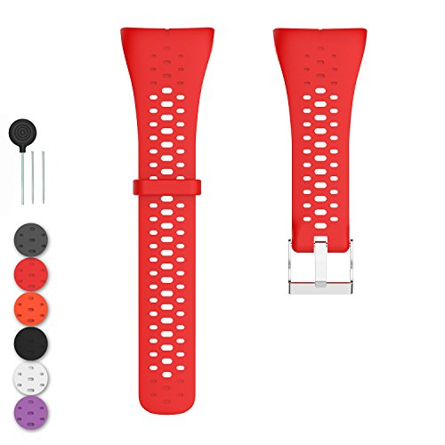 Feskio Accessory Replacement Quick Release Soft Silicone Watch Band Wrist Sport Strap Bracelet for Polar M400/M430 GPS Running Watch