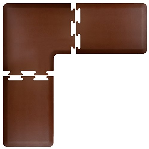 WellnessMats Anti Fatigue Piece Kitchen Brown