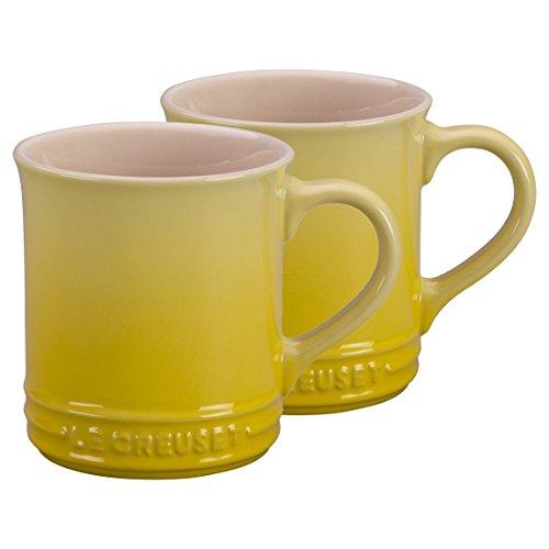 Le Creuset Soleil Yellow Stoneware 12 Ounce Mug, Set of 2