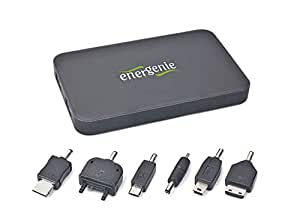 EnerGenie EG-PC-008 Power Bank - Cargador (10.000 mAh, incluye adaptador para tablet, smartphone y reproductores Mp3), color negro