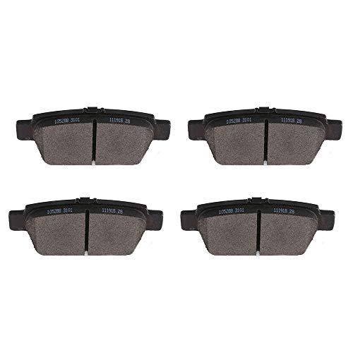 Brake Pads,ECCPP 4pcs Rear Ceramic Disc Brake Pads Kits fit for 2009 2010 2011 2012 2013 2014 Acura TL,2006-2014 Honda Ridgeline