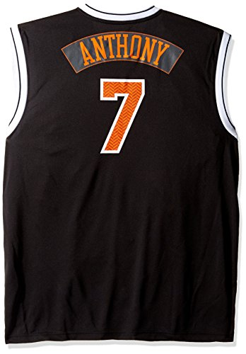 Nba New York Knicks Carmelo Anthony  7 Chevron Fashion Replica Jersey  Black  Xx Large