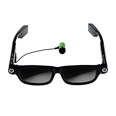 RioRand Wearable Video Camera Glasses with Bluetooth Headset Drive Safe Assist Doze Remind With Light