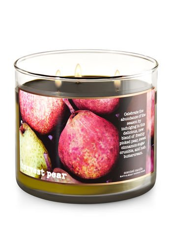 - Bath and Body Works 3-Wick Candle, Harvest Pear