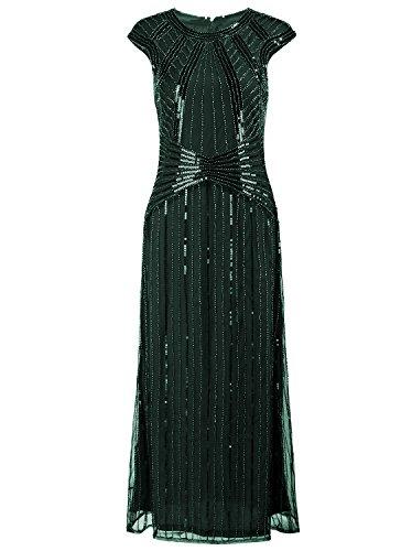Vijiv Dresses Sleeve Beaded Evening