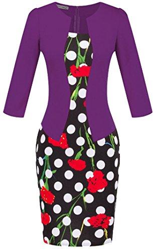 lavoro abbigliamento da block formale donna vestito da Style banchetto color u shot 3 Wiggle matita nIXq0wAx8q
