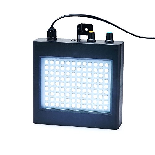 Mini Strobe Light,Super-Bright RGB/White Strobe Light With 108 Mini LEDs Auto Sound Activated OR Adjustable Flash Speed Control - Strobe Squirrel Light