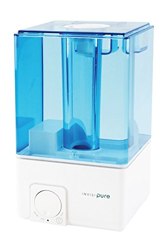 [SALE] InvisiPure Sky Cool Mist Ultrasonic Humidifier - BPA FREE - 1 Gallon Tank Lasts Up To 40 Hours - Quiet Japanese Motor - Dual Mode Night Light, Automatic Shutoff, and Whisper Quiet Operation
