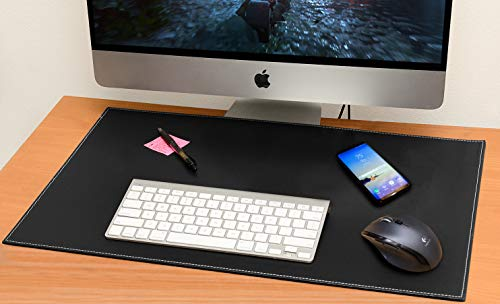 Cheap  Computer Leather Desk Pad, Stylish Mat Cover, Reversible Color Design Black to..