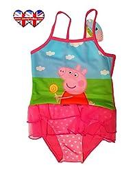 Swimwear ,Peppa Pig Swimsuit ,Adorable Peppa Pig One Piece Swimsuit With Mesh Tutu!