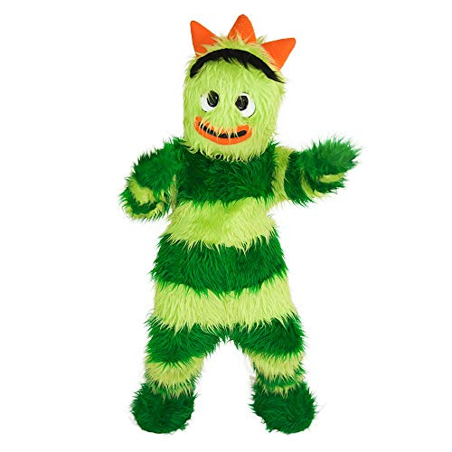 Brobee Green Monster Yo Gabba Gabba Mascot Costume Character Cosplay Party Birthday Halloween]()