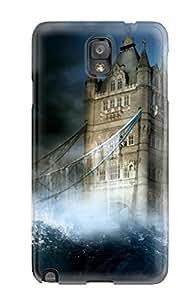 Cute Tpu Matt C Brown Tower Bridge Case Cover For Galaxy Note 3 by Maris's Diary