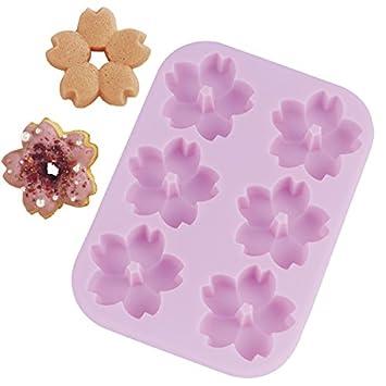 Flores de 5 pétalos de silicona Delidge 6 Cavidad Molde de silicona respaldo del moho,