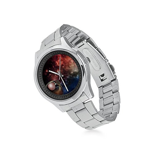 Valetine's Day Boyfriends Gifts Space Sloth Wearing Sunglasses Men's Stainless Steel Watch