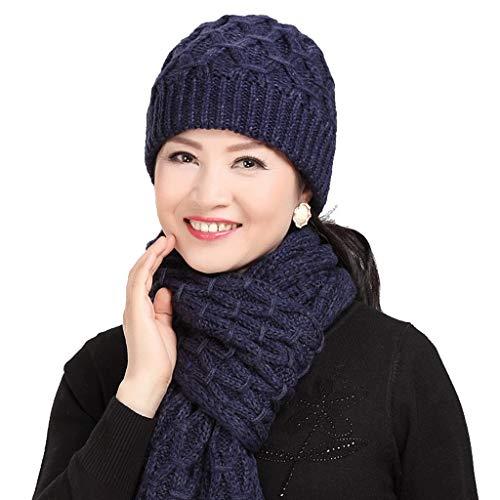 C color Dos Invierno Prueba Madre Aire B A De Caliente Piezas Viento Gorra Libre Bufanda Zxue Mediana Sombrero Edad Al Engrosamiento aUq6wH1