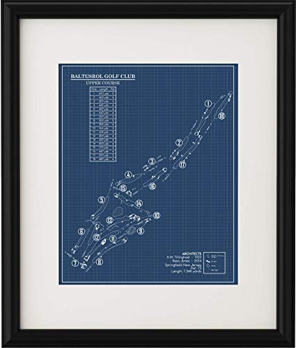 Baltusrol Golf Club Upper Course Blueprint (Print)