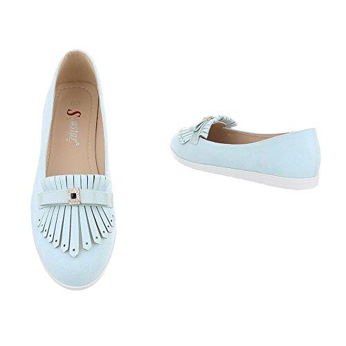 Italiensk Kvinners T261 Tøffel Slippers Design Hellblau rqxrgUOf