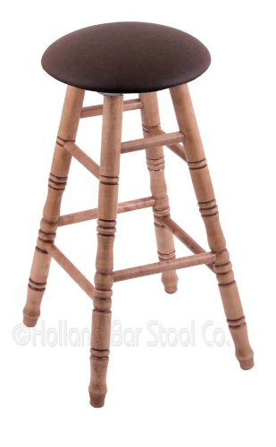 Maple Extra Tall Bar Stool in Medium Finish with Rein Coffee - Pub Bar Wood Finish Maple