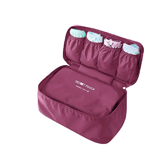 American Trends Travel Case Bra Underwear Organizers Personal Storage Bag (FBA) Wine - Shopping Shipping International Online American