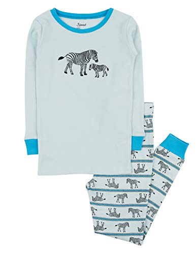 (Leveret Kids Pajamas Boys Girls 2 Piece pjs Set 100% Cotton (Zebra, Size 5 Toddler))