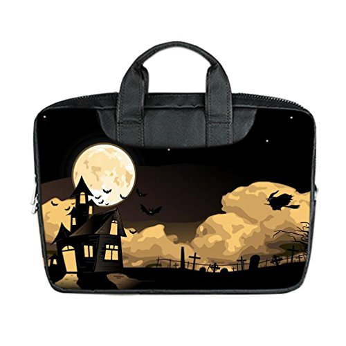 JIUDUIDODO Custom Cool Halloween Evil Jack with Bat Nylon Waterproof Bag Computer Bag Handbag for Laptop 15