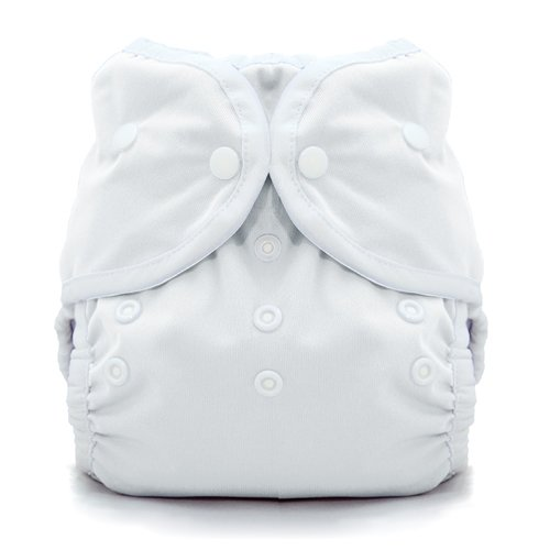 Thirsties Duo Wrap Snap, White, Size Two (18-40 lbs)