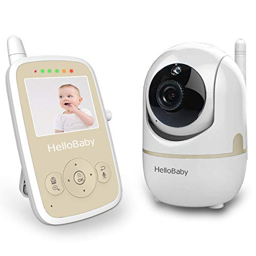 HelloBaby HB248 Wireless Video Baby Monitor with Remote Pan-tilt, Infrared Night Mode, Two-Way intercom System, Rechargeable Battery, 2.4 Inch Review