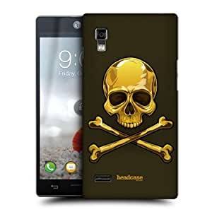 Bloutina Head Case Gold Skulls And Crossbones Back Case Cover For Lg Optimus L9 P760 P768