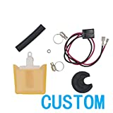 CUSTOM Brand New Electric Fuel Pump Strainer & Connect Wire & Stainless Steel Clampls & Gasket & Cover 213