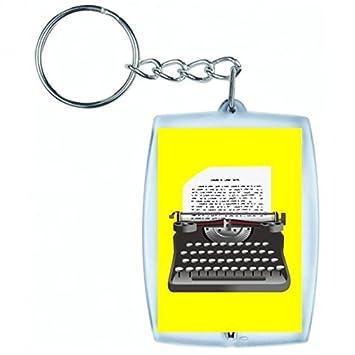 "Llavero ""Máquina de escribir de jahrgang de de entrada de Retro de escritor"