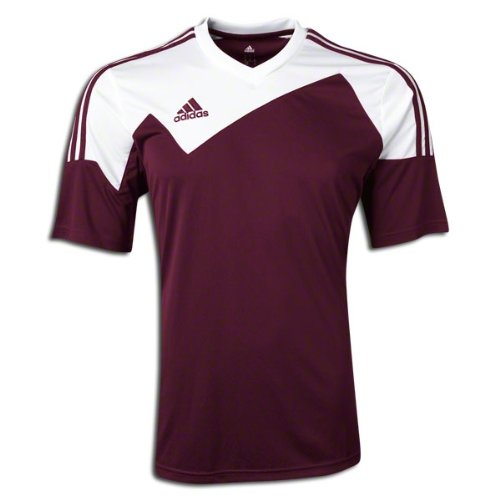 - Adidas Toque 13 Mens Short Sleeve Jersey XL Maroon-White