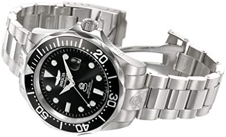 Invicta Men 3044 Stainless Steel Grand Diver Automatic Watch SilverBlack