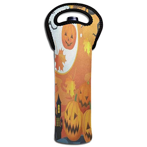 Happy Halloween Funny Gif - Wine Bag Happy Halloween Pumpkin Funny